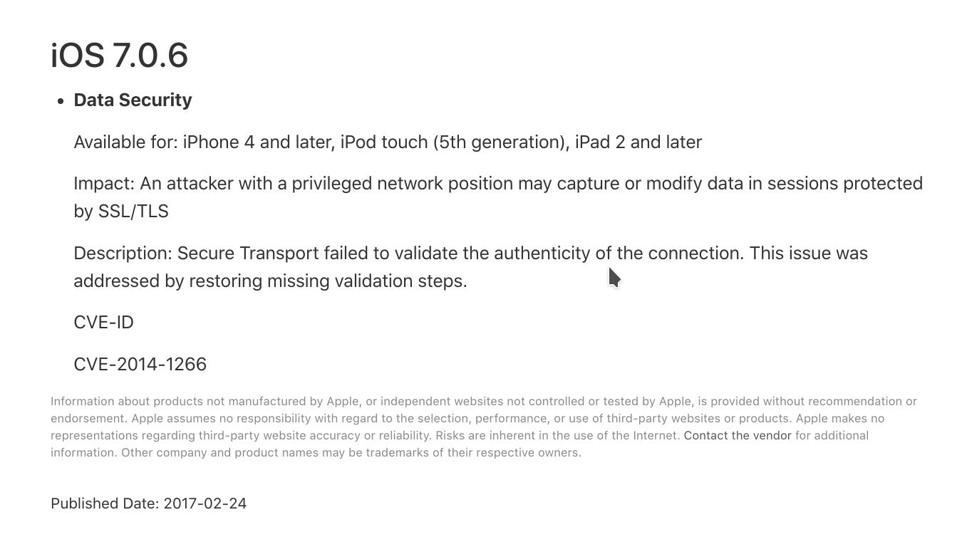 About the security content of iOS 7.0.6